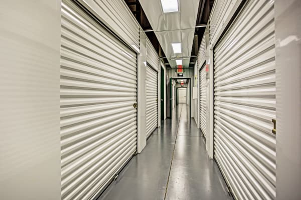Indoor units hallway at Metro Self Storage in Spring Hill, Florida