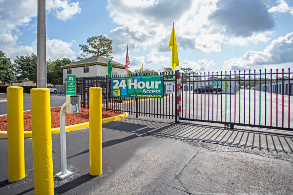 Access gate at Metro Self Storage in Spring Hill, Florida