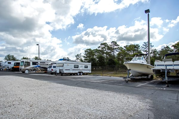 RV and boat storage at Metro Self Storage in Spring Hill, Florida