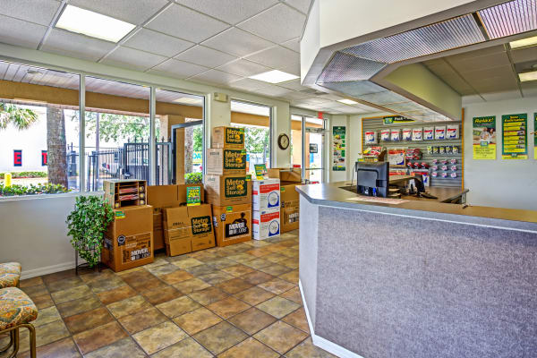 Leasing office reception at Metro Self Storage in Fort Myers, Florida