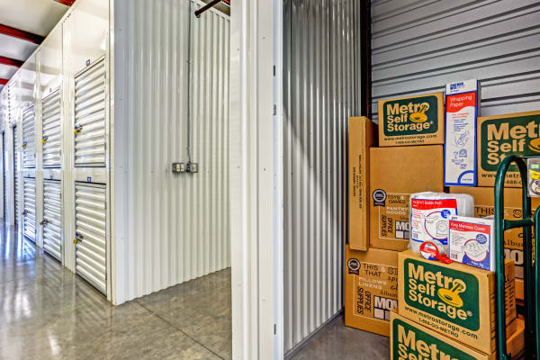 Indoor units at Metro Self Storage in Fort Myers, Florida