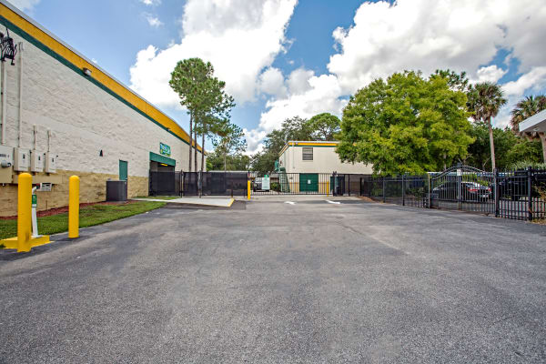 Access gate at Metro Self Storage in Tampa, Florida
