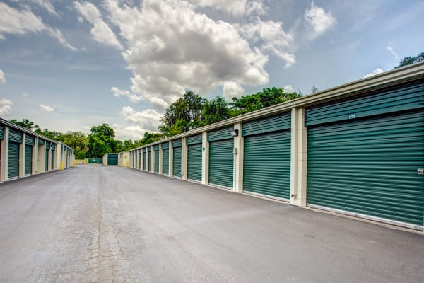 Exterior drive up units at Metro Self Storage in Tampa, Florida