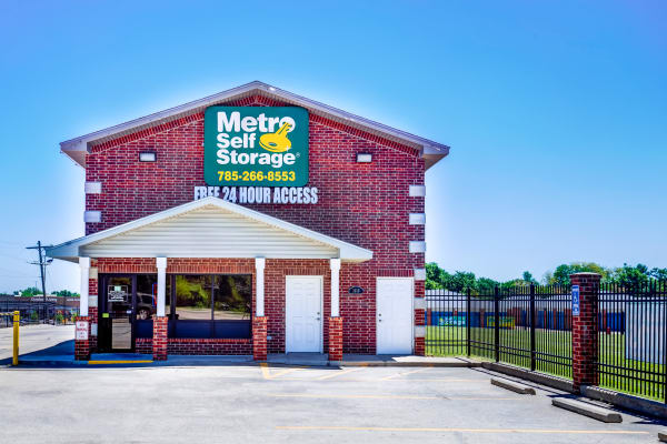 Leasing office entrance at Metro Self Storage in Topeka, Kansas
