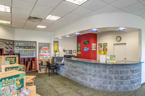 Leasing office reception at Metro Self Storage in Trevose, Pennsylvania