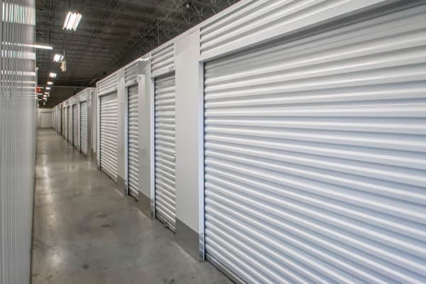 Indoor units hallway at Metro Self Storage in Trevose, Pennsylvania
