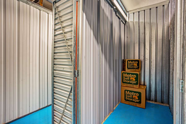 Open indoor unit at Metro Self Storage in Fort Myers, Florida