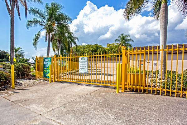 Metro Self Storage offers an access gate in Fort Myers, Florida