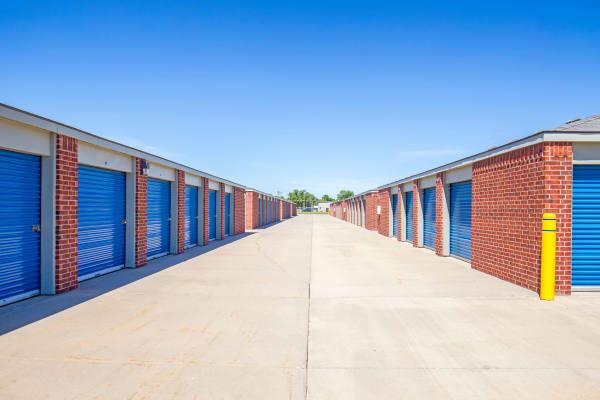 Exterior drive up units at Metro Self Storage in Wichita, Kansas