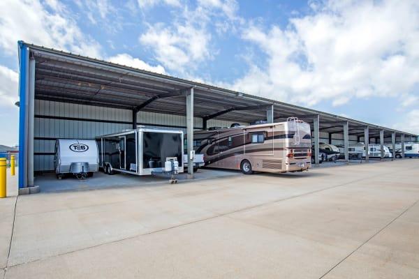 Metro Self Storage offers RV and boat storage service in Wichita, Kansas