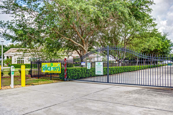 Access gate at Metro Self Storage in Wesley Chapel, Florida