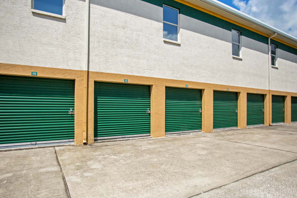 Exterior drive up units at Metro Self Storage in Wesley Chapel, Florida