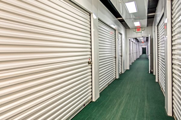 Indoor units hallway at Metro Self Storage in Wesley Chapel, Florida
