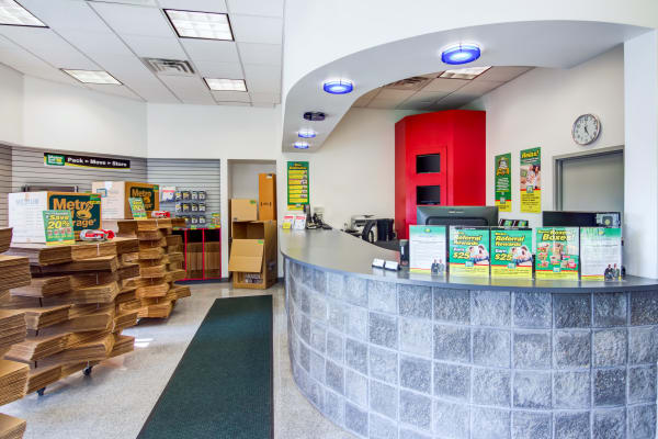 Leasing office reception at Metro Self Storage in West Haven, Connecticut