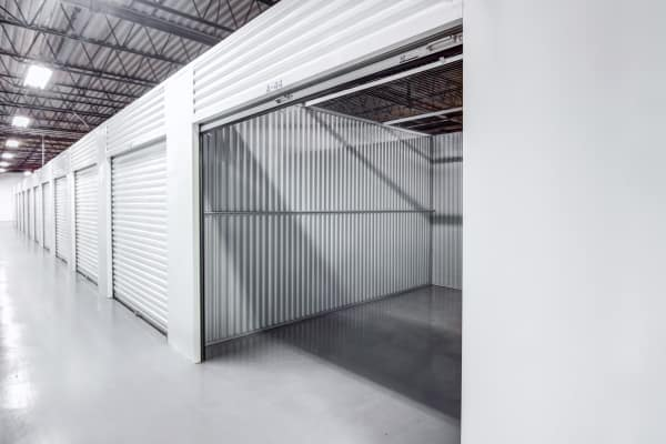 Open indoor unit at Metro Self Storage in West Haven, Connecticut