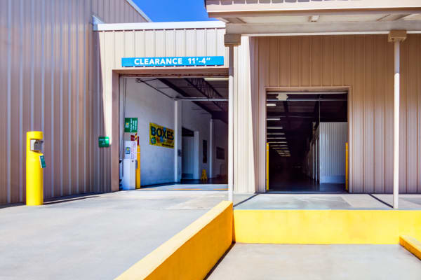 Vehicle entrance at Metro Self Storage in West Haven, Connecticut