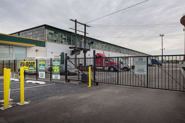 Access gate with security panel at Metro Self Storage in Chicago, Illinois