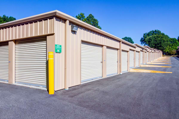 Exterior drive up units at Metro Self Storage in West Haven, Connecticut