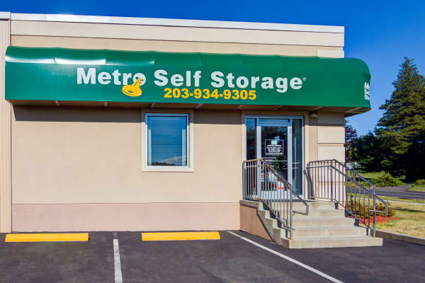 Parking area at Metro Self Storage in West Haven, Connecticut