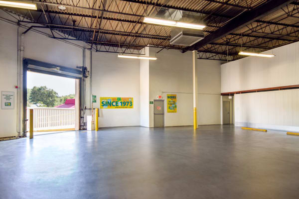 Loading dock interior view at Metro Self Storage in West Haven, Connecticut