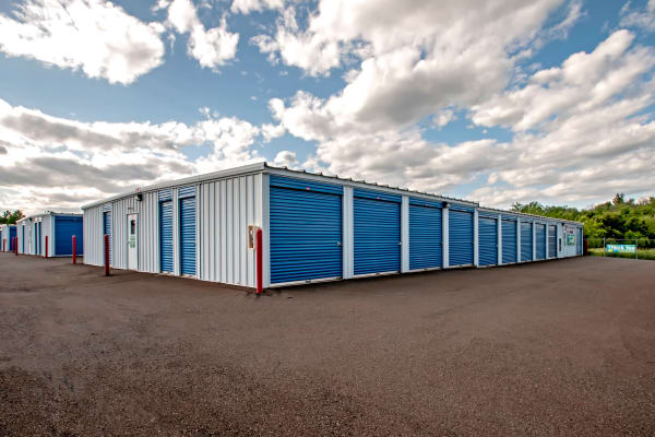 Exterior drive up units at Metro Self Storage in Warminster, Pennsylvania