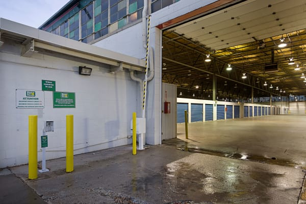 Open loading dock at Metro Self Storage in Chicago, Illinois