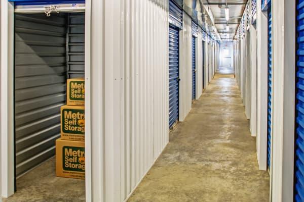 Indoor units hallway at Metro Self Storage in Warminster, Pennsylvania