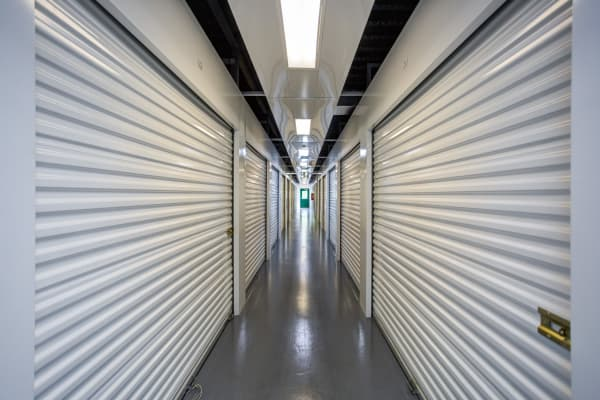 Indoor units hallway at Metro Self Storage in Tampa, Florida