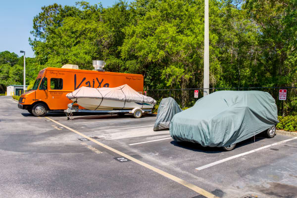 RV and boat storage at Metro Self Storage in Tampa, Florida