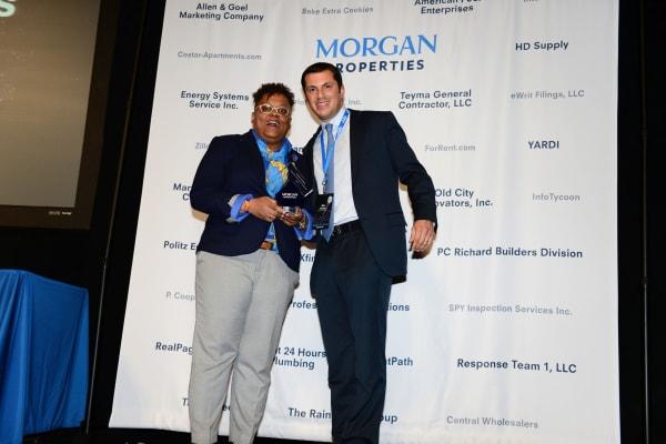 Morgan Properties team at multifamily award show
