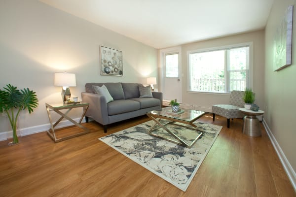 Our apartments in Halifax, Nova Scotia showcase a beautiful living room