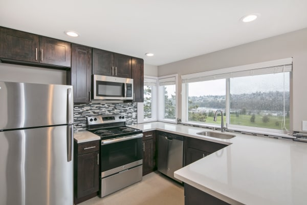 Kitchen at Aire Apartments in Seattle, Washington