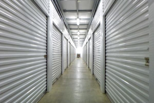 Interior view of storage units