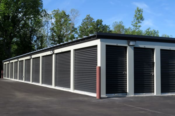 Exterior storage units at Monster Self Storage in Evans, Georgia