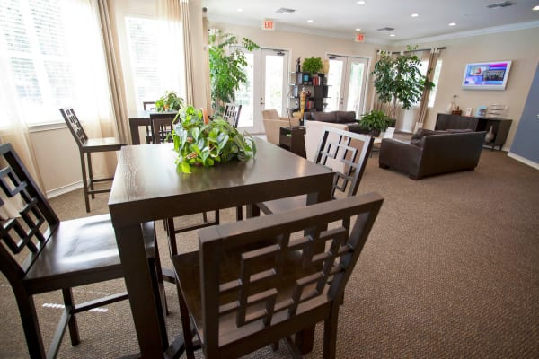 Dining room in apartment at Legends Winter Springs in Winter Springs, Florida