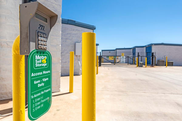 Keypad access at Metro Self Storage in Lubbock, Texas