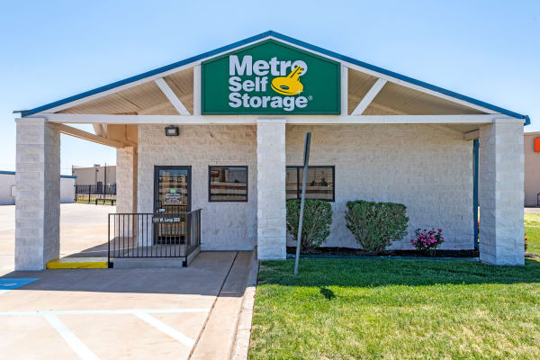 Entrance at Metro Self Storage in Lubbock, Texas