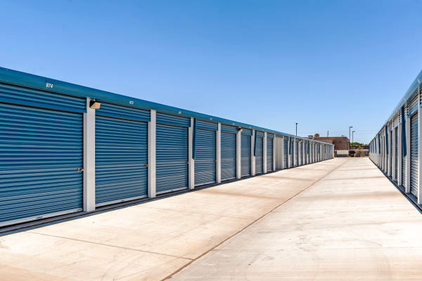 Exterior units at Metro Self Storage in Lubbock, Texas
