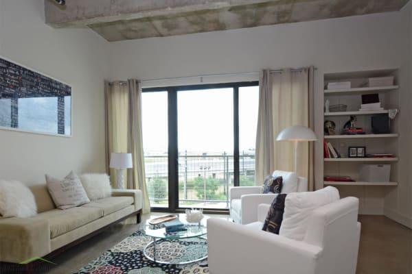 Master bedroom at 1221 Broadway Lofts