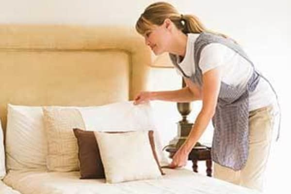Senior living community with housekeeping and linens service at Discovery Commons At Wildewood in California, Maryland