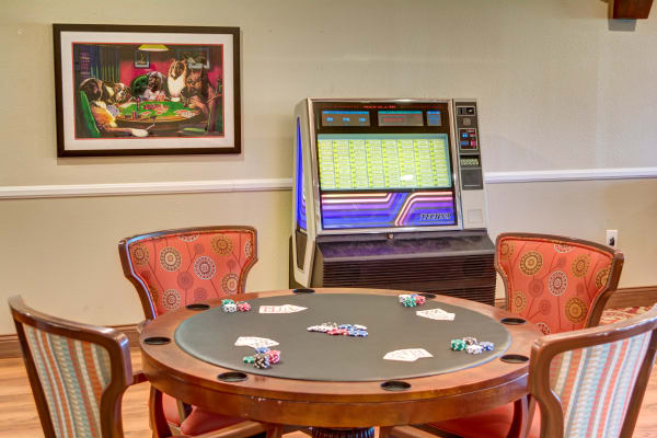 The Wentworth of Las Vegas card room