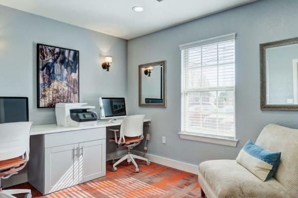 Home office at Heights at Battle Creek in Broken Arrow, Oklahoma