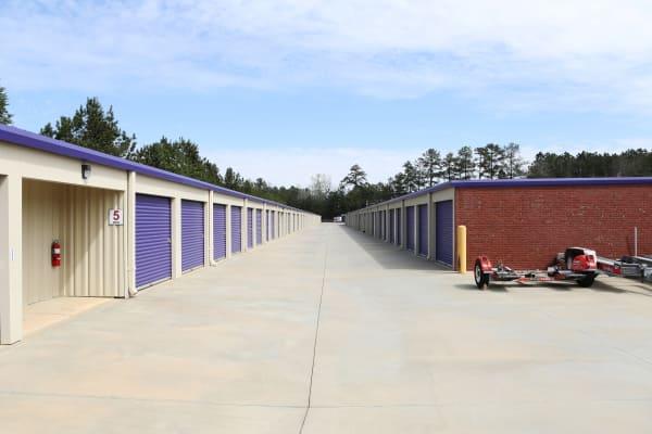 LArge aisles at StoreSmart Self-Storage in McDonough, Georgia