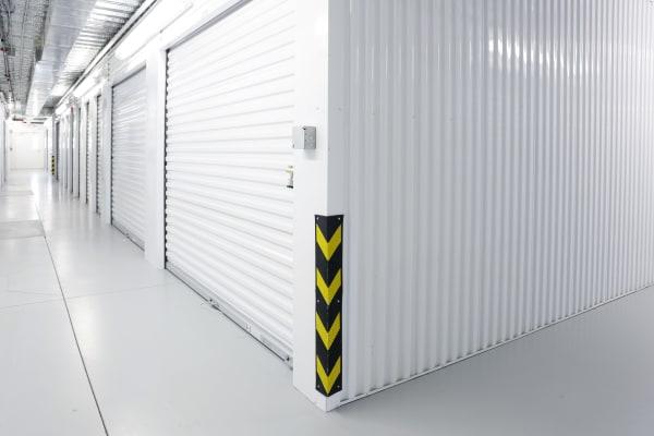 Interior units with white doors at StoreSmart Self-Storage in Durham, North Carolina