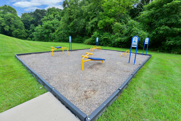 Beautiful exterior fitness area at Wedgewood Hills Apartment Homes in Harrisburg, Pennsylvania