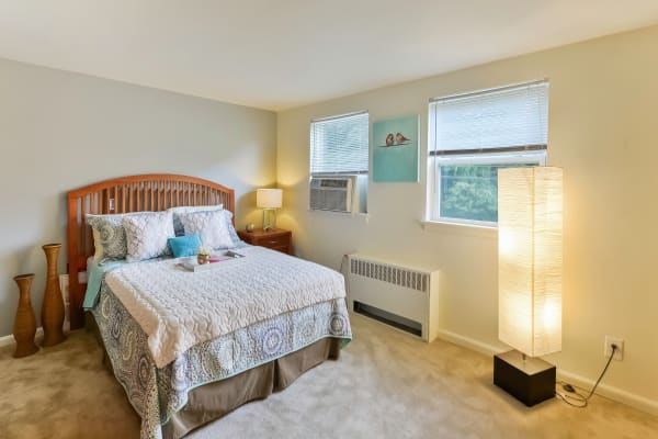 Our apartments in Harrisburg, Pennsylvania showcase a beautiful bedroom