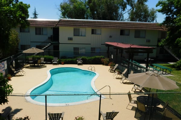 View of our swimming pool at Buchanan Gardens in Antioch, CA