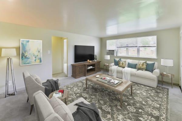 Living Room at Wedgewood Hills Apartment Homes in Harrisburg, Pennsylvania