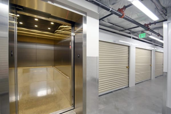 Elevator access offered at Edgemark Self Storage - Glendale in Glendale, Colorado