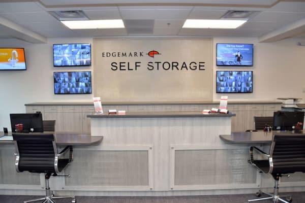 Front desk at Edgemark Self Storage - Glendale in Glendale, Colorado